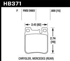 Disc Brake Pad Set-SRT-6 Rear Hawk Perf HB371F.600