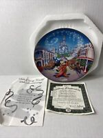 "Vintage Walt Disney World 25th Anniversary ""Main Street, USA"" Collectors Plate"