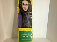Rubie's Costume Witch Wig Halloween Long Black Hair One Size Vintage 1989 Female
