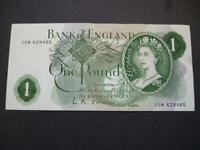 L.K.O'BRIEN 1960 ONE POUND NOTE IN UNCIRCULATED CONDITION £1  DUGGLEBY B282.