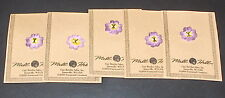 "Lot - 5 Mill Hill ""Purple & Yellow Pansy"" Handpainted Ceramic Buttons"