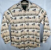 Woolrich Ducks Unlimited Button Heavy Long sleeve hunting Shirt mens XL