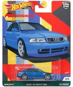 Hot Wheels Audi S4 Quattro Blue DEUTSCHLAND DESIGN FPY86-957C 1/64
