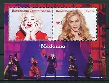 Central African Rep 2017 CTO Madonna 2v M/S Celebrities Popstars Music Stamps