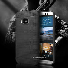 HTC One M9 Case [Exact-Fit] [Thin Fit] [Smooth Black] Slim Matte Soft Cover+Film