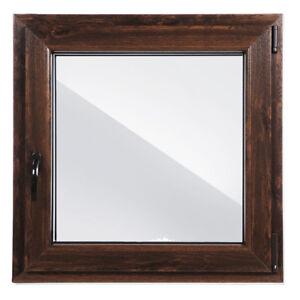 Finestre in PVC Aluplast 4000 NOCE ad 1 Anta&Ribalta! L:600 x A:1000 x 3 pezzi