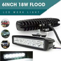 18W 6 Inch LED Work Light Bar Spot Flood Offroad ATV Fog Truck Driving Lamp
