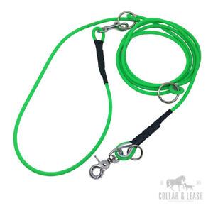 Dog Lead Neck Line Training Lead Mehrfachverstellbar Round 6mm Many Colours
