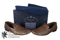 Prada Mens Calzature Uomo Sughero Brown Calf Leather Penny Loafers UK 9 US 10