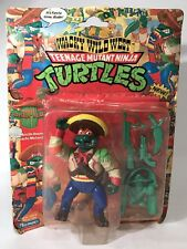 Vintage TMNT Bandito Bashin Mike Wacky Wild West Figure 1992 Playmates New As-Is