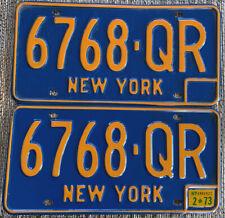 1966-73 New York State License Plates PAIR + DAV Keychain Plate