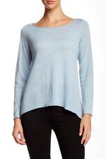 Eileen Fisher Ballet Neck Merino Wool Sweater Glacier L NWT $198