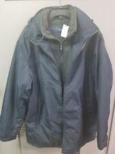 Men's WEATHERPROOF Double-zip Hooded COAT, XL midnight Blue