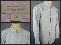 Banana Republic Classic Fit Multicolor Striped Menswear Dress Shirt XL For Work