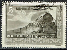 Argentina Railroad Train Locomotive stamp 1951