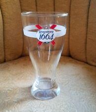 "Kronenbourg 1664 Pilsner Glass German Craft Beer 7"" Tall Advertising Breweriana"