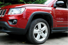 Black Fender Flares Wheel Arch 10pcs for JEEP COMPASS 2011 - 2015