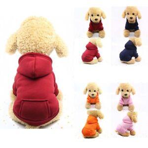 Pet Dog Cat Winter Warm Sweater Puppy Hoodie Coat Small Pet Dog Costume Apparel
