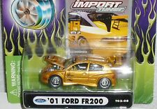 2002 MUSCLE MACHINES '01 Ford FR200 Import Tuner #T02-08 Real Riders Gold 2001