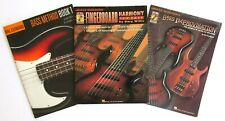 Bass Guitar 3 Different Instruction Books with 2 Different Cds * All Never Used