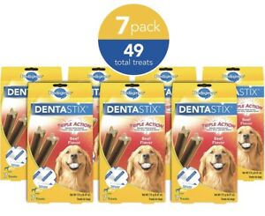 Pedigree DENTASTIX Treats for Large Dogs, 30+ lbs. 7 (Pack of 7)