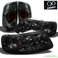 For 97-03 F150 1pc Smoked Halo Projector Headlights + Altezza Style Tail Lights