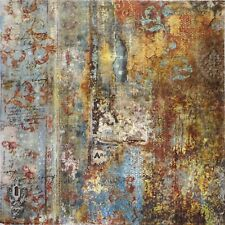 Rice paper - Time is an Illusion Rust Effect- for Decoupage Scrapbooking Sheet