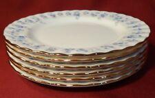 Royal Albert MEMORY LANE Forget-me-Not Individual Cake or Bread Plates 6 c1970