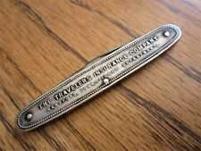 Antique Advertising SilverPlate? TRAVELERS INSURANCE COMPANY Pocketknife L F & C