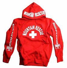 Mountain Rescue Hoodie Sweatshirt Red Men's Lifeguard Guard Skiing Shirt