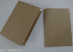 50 x A5 Folded Kraft Brown Cards - Fits in C6 Envelope