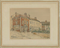 George Hannaford - Mid 20th Century Pen and Ink Drawing, Bridewell Street Scene