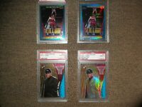 2001 EDDY CURRY RC LOT-TOPPS CHROME #132 & PRISTINE #60 + REFRACTOR'S! PSA/BGS 9