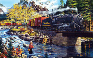 Jigsaw puzzle Train Cascade Run Scenic Railroad Line 300 piece NEW Made in USA