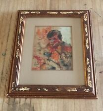 Gino Hollander Original Art Work Signed Dated July 1966 Framed By Artist