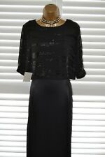 ~ PHASE EIGHT STUDIO 8 ~ Long Black Bead Dress Size 14 BNWT Mother of the Bride