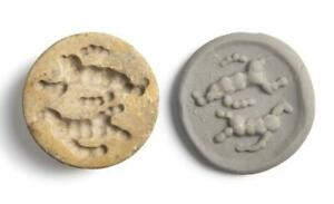 Western Asiatic Sumerian Jemdet Nasr stamp seal with provenance: 3000 BC.