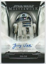 2019 Star Wars Masterwork Autographs A-JVM Jimmy Vee R2-D2 Auto