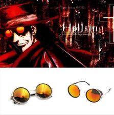 HELLSING Alucard Vampire Hunter Tailored Cosplay Glasses Prop Orange Sunglasses