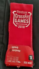 New REEBOK CROSSFIT GAMES 2018 unisex CREW SOCKS XLarge