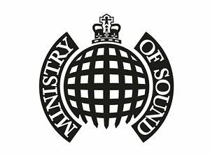 Ministry of sound logo sticker window bumper dj flight case dance