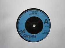 "GENERATION X: King Rocker (Chrysalis) 1979 7"" single"