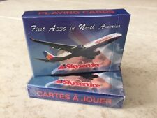 1 DECK Skyservice airline playing cards RARE DECK!