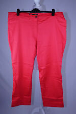 Straight Leg Stretch Trousers Red Size 24 NEW Bonprix Collection Regular Length