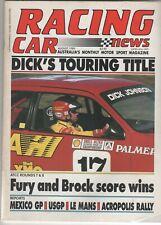 Racing Car News 1989 Aug Elfin Lancia Powertown Le Mans Acropolis Rally Perth Fo