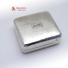 Vintage Gentleman s Traveling Shaving Kit Box Sterling Silver 1930