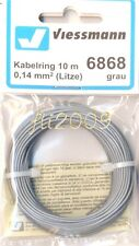 * Viessmann 6868 cavo filo collegamenti elettrici 0,14 mmq 10 mt grigio