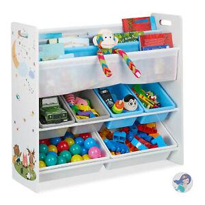 Kinderregal 6 Boxen Spielzeugregal Kinderzimmerregal Stoff Organizer Spielregal