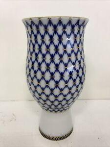 Lomonosov St Petersburg Russia Vase Cobalt Luxury Porcelain
