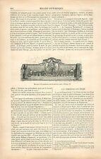 Enseigne d'Apothicaire du XVIIIe à Dieppe/Campo-Santo à Gênes GRAVURE PRINT 1878